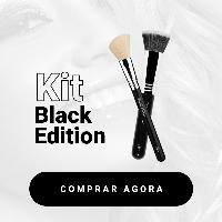 Imagem do produto Kit Base e Pó Black Edition - Pincéis de Maquiagem