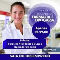 Imagem do produto CURSO ATENDENTE DE FARMÁCIA EAD - GANHA DE BRINDE CURSO OPERADOR DE CAIXA + CURSO DE ATENDENTE DE LOJA 3 CERTIFICADOS REGISTRADOS - ATUALIZADO 2021