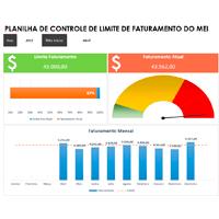 Imagem do produto Planilha Controle de Limite de Faturamento para MEI